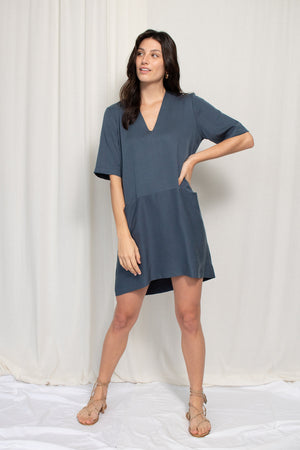 Pocket Shift Dress - Tencel - Ink