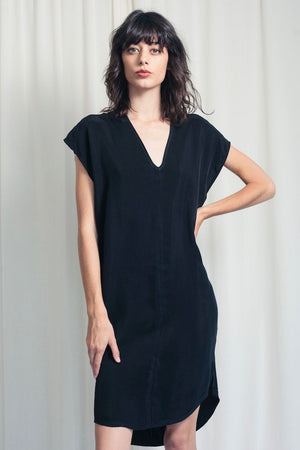 Straight Dress - Black Cupro
