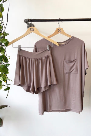 T-Shirt PJ Set - Taupe