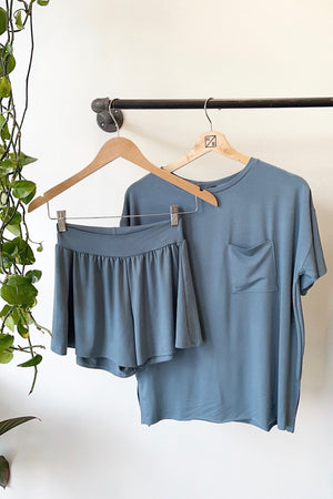 T-Shirt PJ Set - Vintage Blue