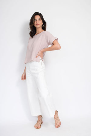 Everyday T-Shirt - Blush Cotton Gauze