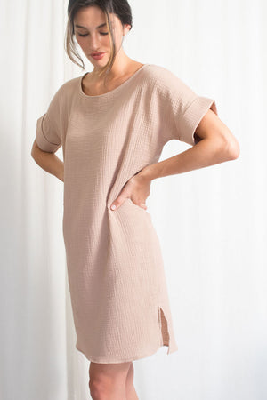 Everyday T-Dress - Cotton Gauze