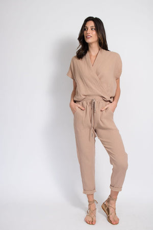 Travel Pant - Cotton Gauze - Tan