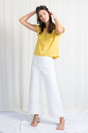 Box Top - Yellow Tencel