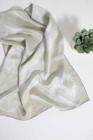 Silk Bandana - Gray