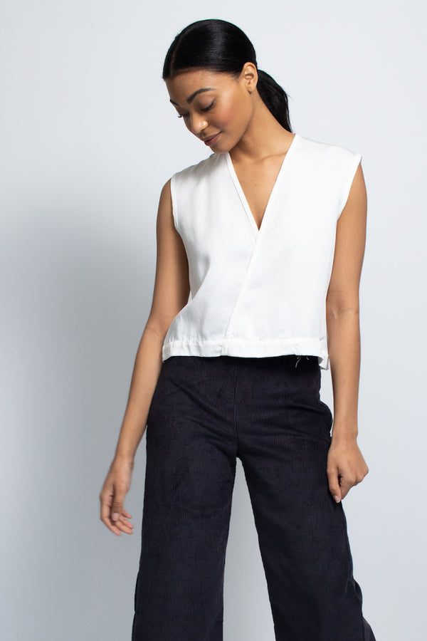Triangle Top - Tencel - White