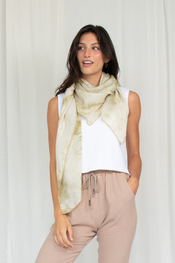 Large Scarf - Moss
