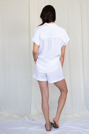 Summer Short - Cotton Gauze - White