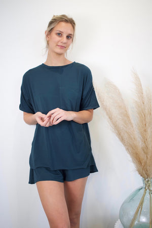 T-Shirt PJ Set - Everglade