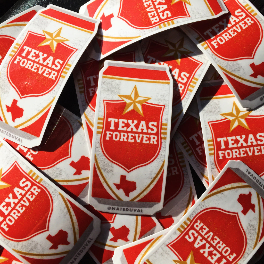 Texas Forever Stickers