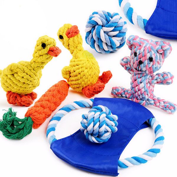 Chewy, Colourful and Cute Variety of Knot Type Chew Toys for Your Dogs