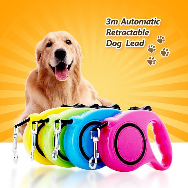 3M or 5M Retractable Dog Leash With Single-Handed Locking System