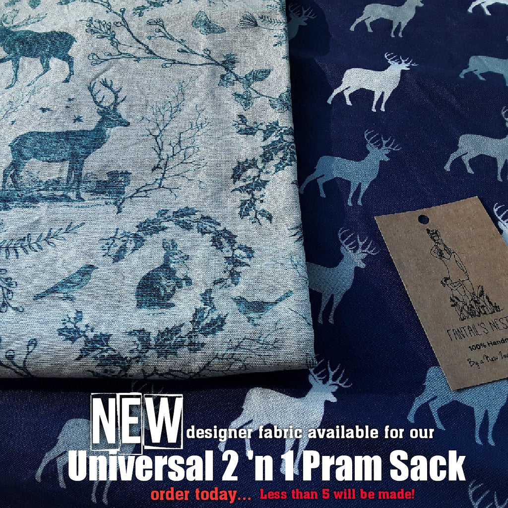 2018 is here & so is our NEW Pram sack designer fabrics!