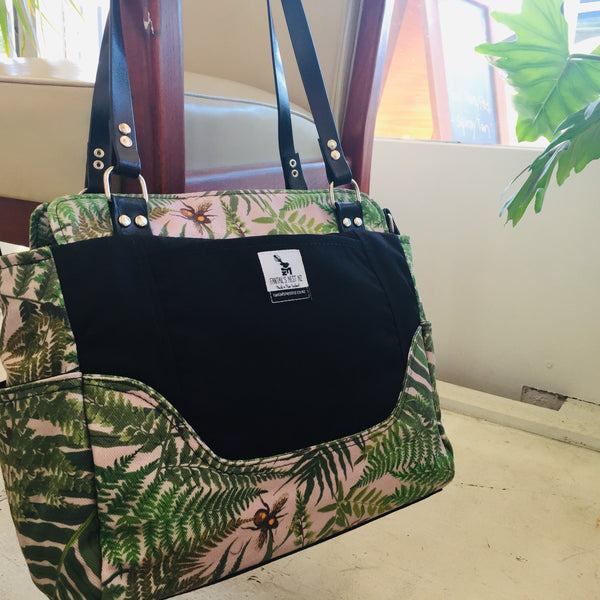 "Nappy Bag/Hand Bag - Fernomenal"" Ferns (Match Me)"