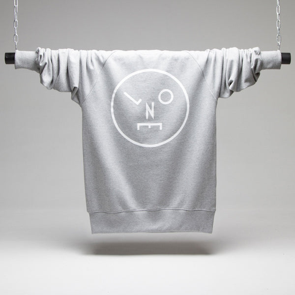 LNOE White Logo Sweatshirt - Grey
