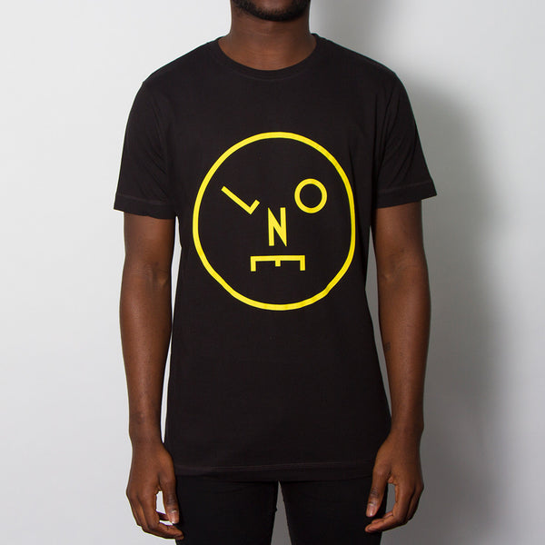 LNOE Yellow Print T-shirt - Black
