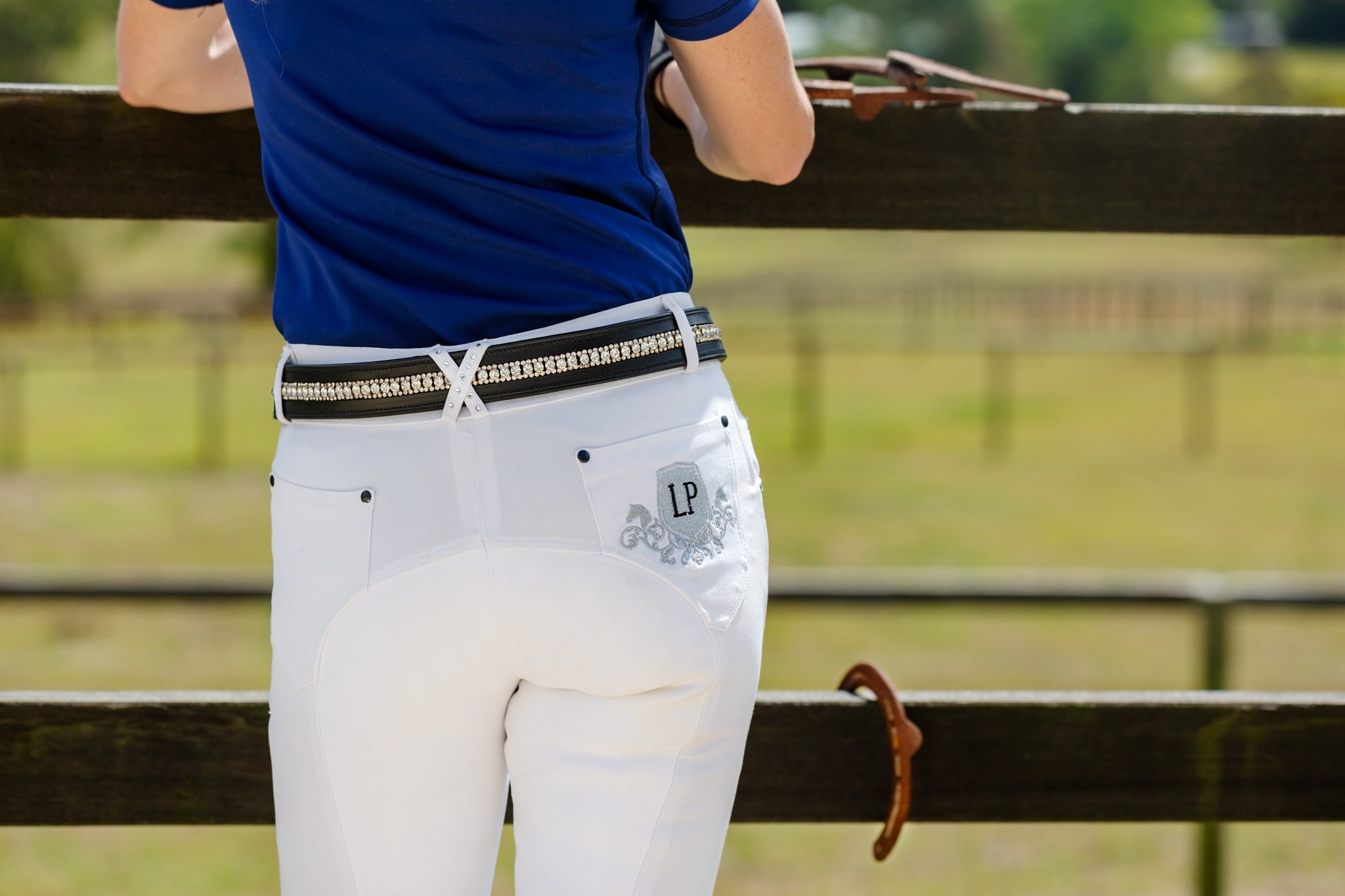 Ladies Suede Riding Breeches
