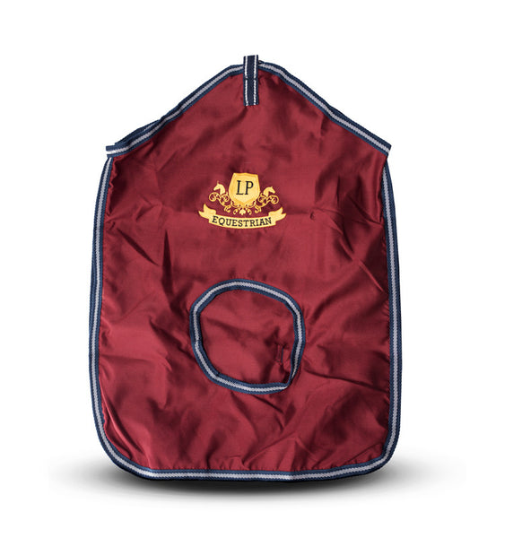 Equestrian Horse Product. Burgundy Hay Bag