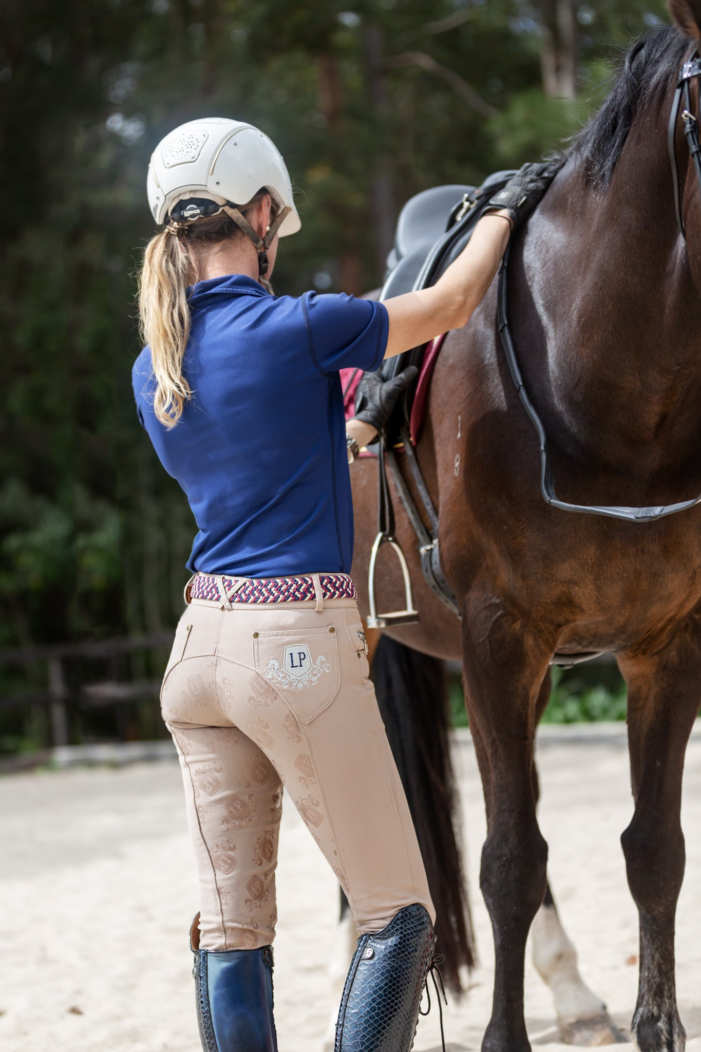 Ladies Deluxe Gel Breeches