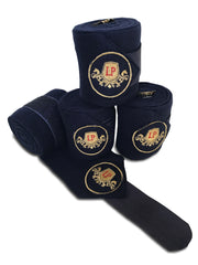 Equestrian Horse Product. Navy Fleece Bandages