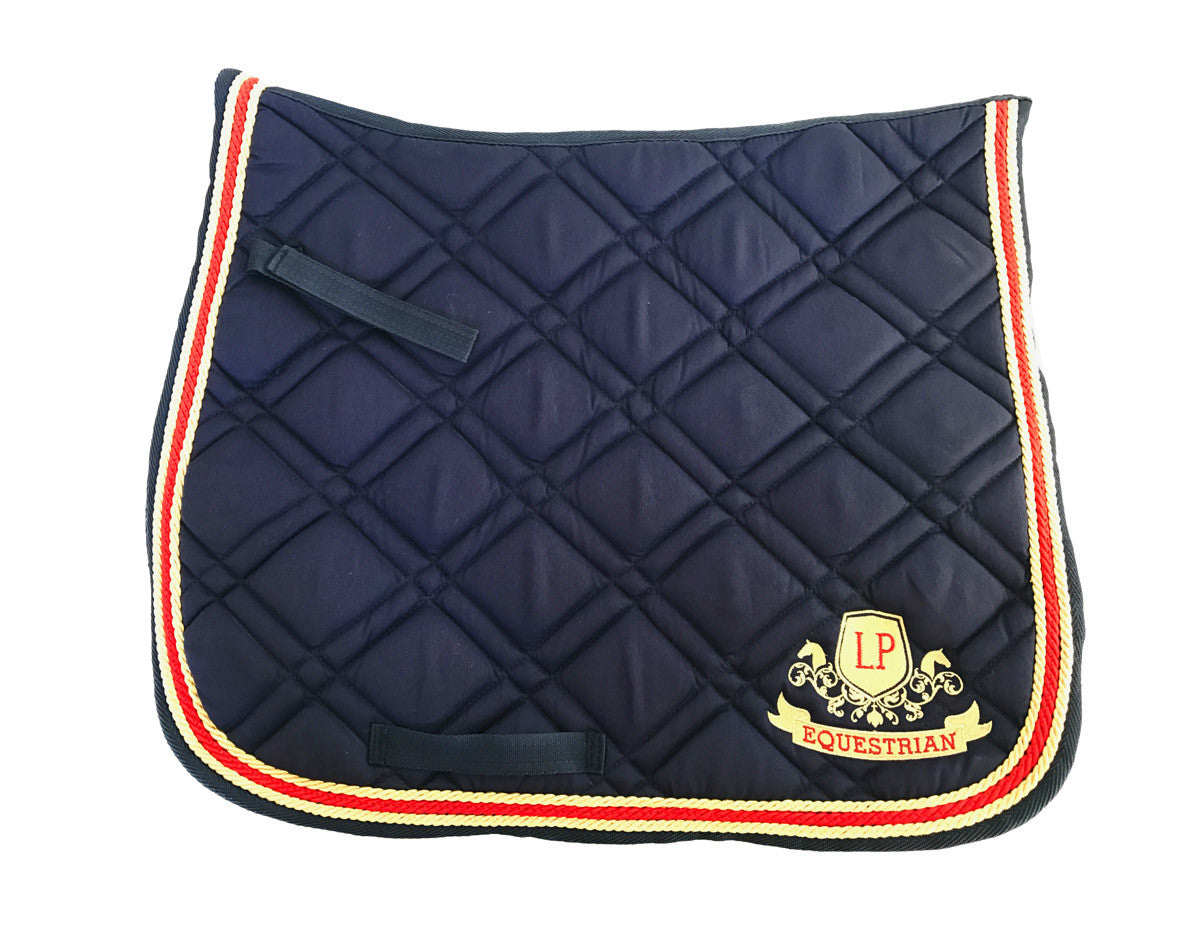 Equestrian Horse Product. Navy Dressage Saddle Pad