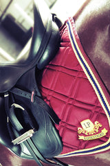 Equestrian Horse Product. Burgundy Dressage Saddle Pad