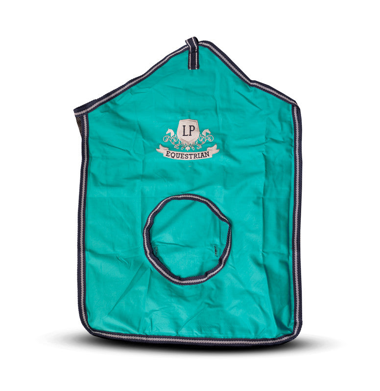 Equestrian Horse Product. Turquoise Hay Bag