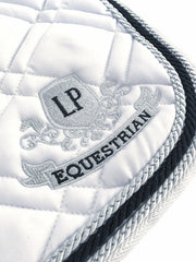 Equestrian Horse Product. White Dressage Saddle Pad