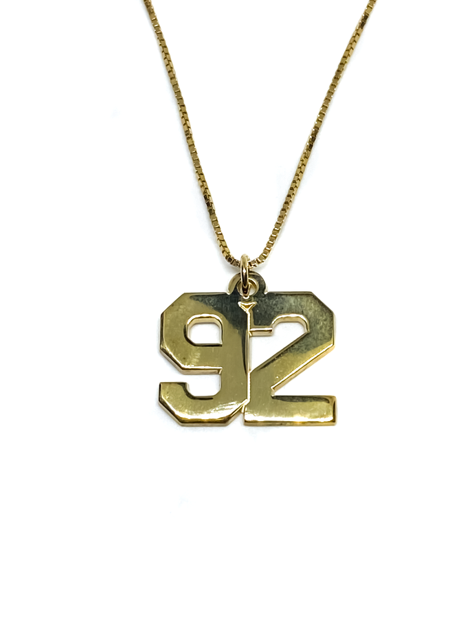 Custom Number Necklace