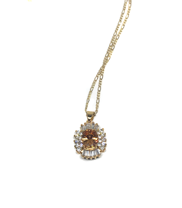Topaz Pendant Necklace