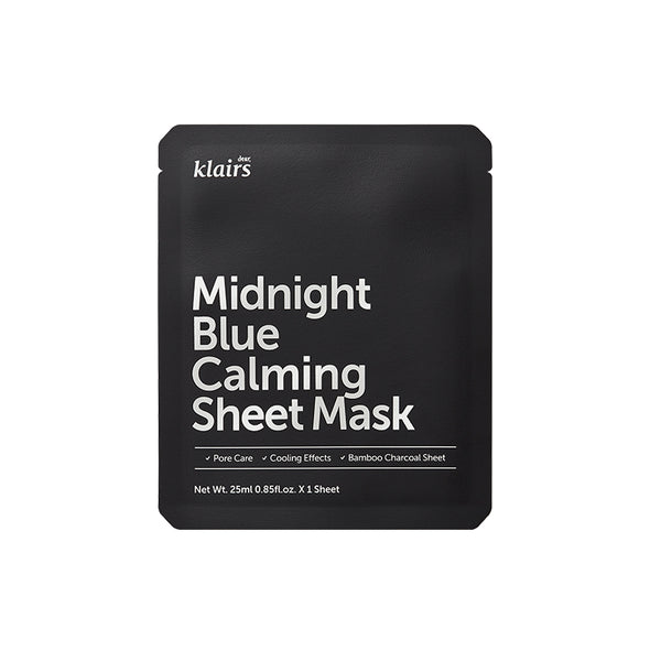 Dear, Klairs Midnight Blue Calming Sheet Mask product