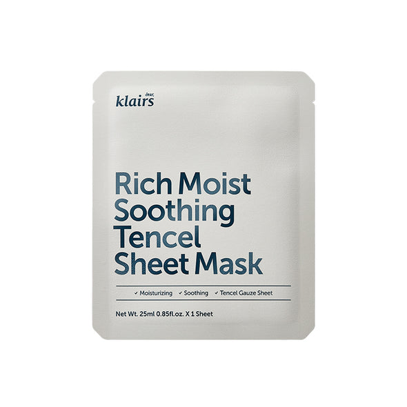 Dear, Klairs Rich Moist Soothing Tencel Sheet Mask