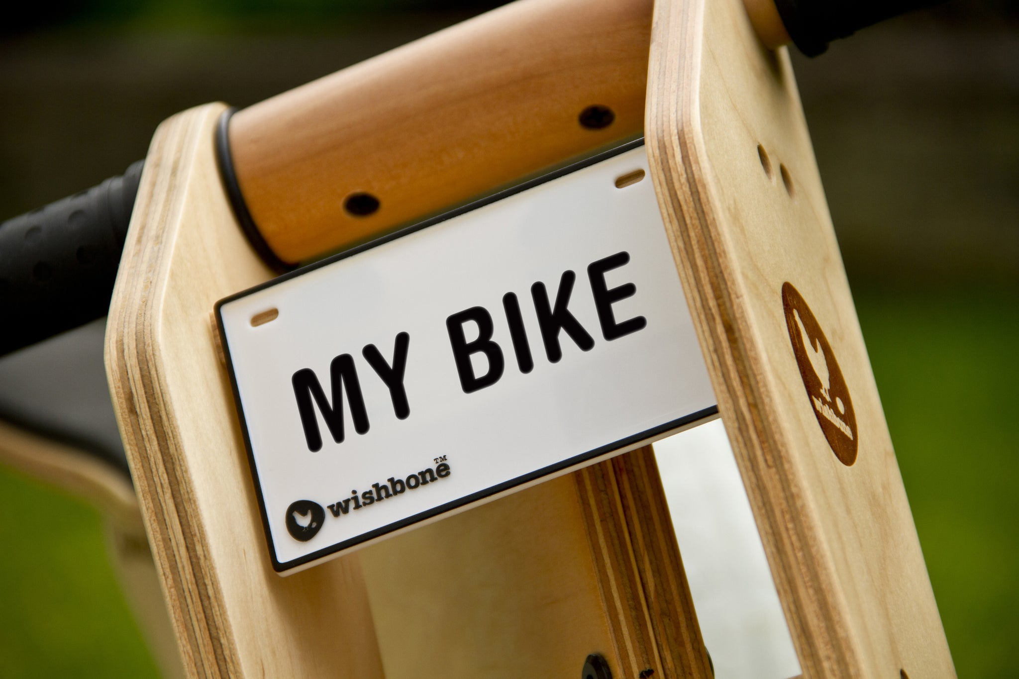 WISHBONE BIKE - name plate