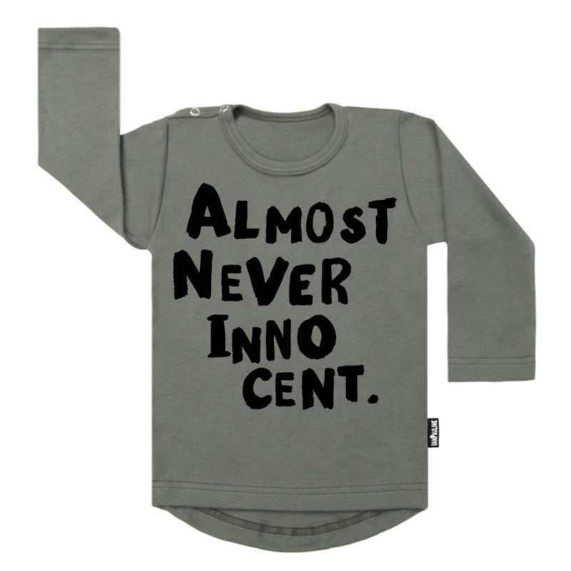 T SHIRT - almost never innocent