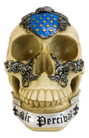 Legendary King Arthur Roundtable Knights Sir Percival Holy Grail Skull Statue