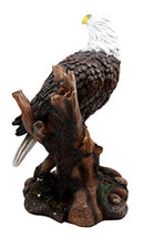 "Ebros Wildlife Patriotic Bald Eagle On Tree Branch Statue Wings Of Glory Eagle Decorative Figurine 10.25"" Tall"