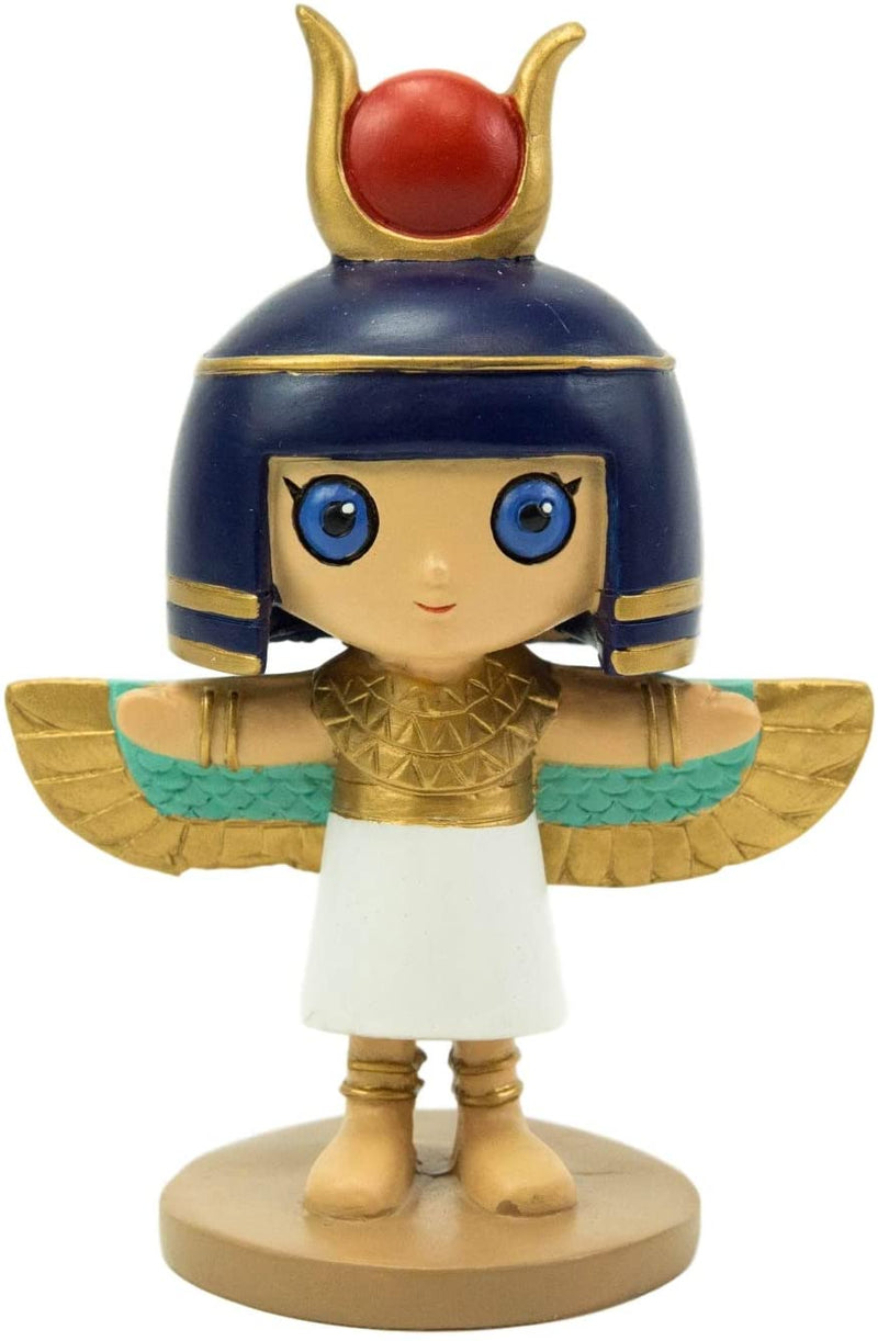"Ebros Weegyptians Collection Egyptian God Statue 4"" Tall Figurine (Goddess Isis) - Ebros Gift"