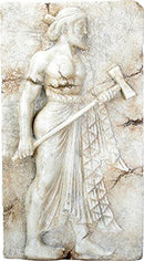 "Ebros Vulcan Roman Relief from Herculaneum Wall Plaque Large 16.5"" Long Replica"
