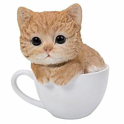 "Atlantic Collectible Teacup Pet Pals Cat Kittens Collectible Figurine 5.75"" Tall - Atlantic Collectibles"