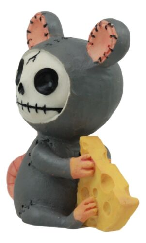 "Furrybones Voodoo Mouse With Muenster Cheese Skeleton Figurine Collectible 2.5""H"