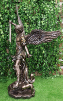 "Ebros 45"" Tall Grand Saint Michael The Archangel Slaying Satan Lucifer Statue - Ebros Gift"