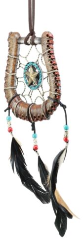 "Ebros Western Lone Star Horseshoe Dreamcatcher Wall Hanging Decor 5""Diameter"