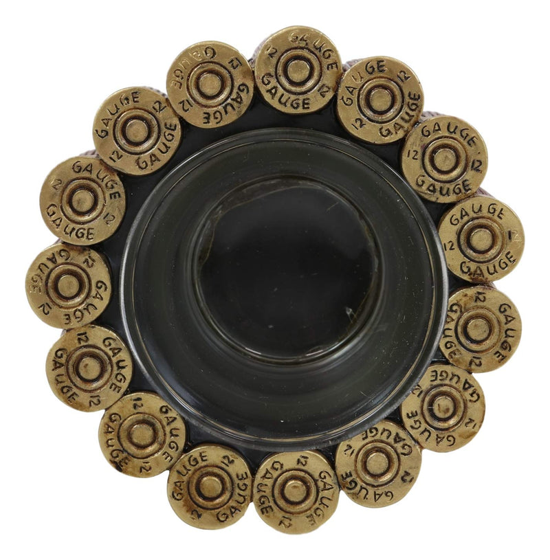 "Ebros Western 12 Gauge Shotgun Shells Hunter's Ammo Shell Casing Votive Candle Holder Decorative Figurine 4"" Long Rustic Country Accent Tea Light Candleholder"