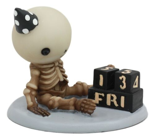 "Ebros Eternal Friday 13th Birthday Celebration of Lucky The Skeleton Statue 3.5"" Long The Unfortunate Luck of The Lightning Rocker Collectible Figurine"