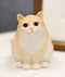 "Adorable Feline Tabby Striped Fat Cat Kitten Figurine 4""H Miniature Lucky Cats"