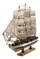 "Ebros 12"" Tall Handicraft Wood Old Ironsides USS Constitution Frigate Ship Model Statue with Wooden Base Stand War Vessel Battle Ships Fully Assembled Prototype Museum Gallery Sculpture - Ebros Gift"