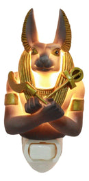Ebros Ancient Egyptian Anubis Decorative LED Wall Plug In Night Light