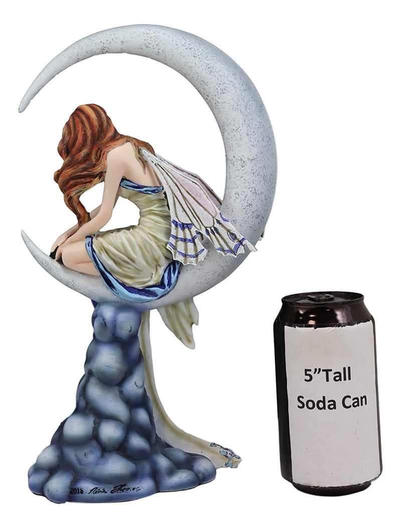 "Ebros Fantasy Celestial Crescent Lunar Moon Dream Weaver Fairy Statue 12"" Tall by Artist Nene Thomas 'Memory' Astrology Zodiac Fairies Nymphs Pixies Themed Collectible Figurine As Home Decor Accent"