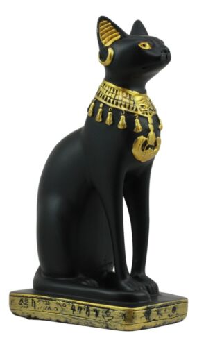 "Small Egyptian Classical Goddess Of The Home Bastet Cat Statue 5""H Gods Of Egypt"