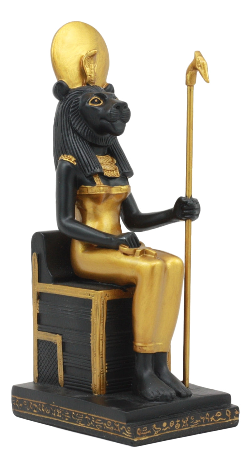 Ebros Classical Egyptian Gods and Goddesses Seated On Throne Statue Gods of Egypt Ruler of Mankind Decorative Figurine … (Sekhmet Gof of War)